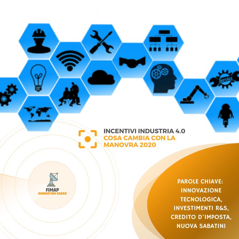 incentivi industria 4.0 legge di bilancio 2020
