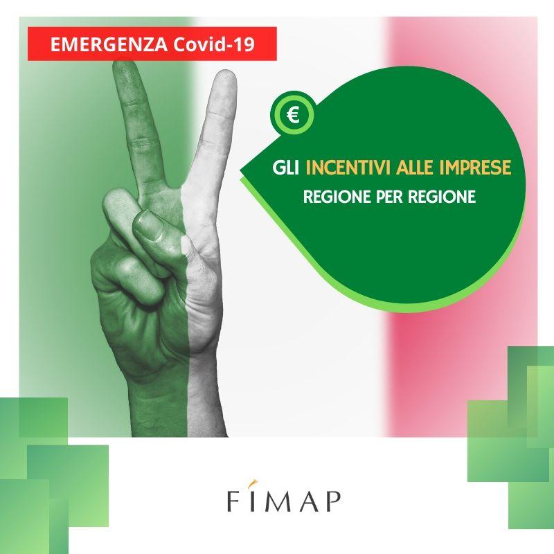 incentivi alle imprese dalle regioni per emergenza coronavirus