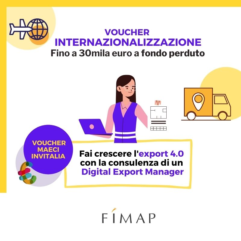 Voucher tem digitali contributi internazionalizzazione export 4.0