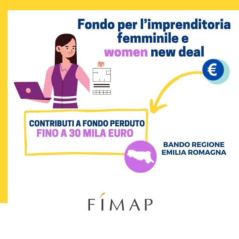 fondo imprenditoria femminile women new deal emilia romagna